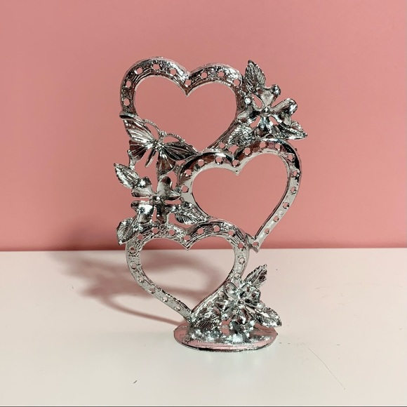 Vintage heart shaped jewelry holder